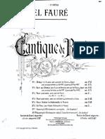 Faure Cantique Vl Vc PianoTrio Score Parts