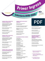 Primer Ingreso 2019 UNAM