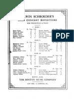 Cello Concert Repertoire
