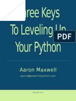 Three Keys to Leveling Up Your Python