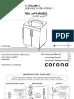 instruccion de armado lavamanos corona