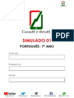 Simulado 01 - Português - 7º Ano (Blog Do Prof. Adonis)