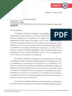 Carta Sr. Jorge Uauy Presidente Club Deportivo Palestino Sres Matias Araya Gabriel Bastias Club Rangers Curico Unido y Club Deportes Copiapo