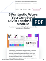 5 Fantastic Ways You Can Style Divi's Testimonial Module _ Elegant Themes Blog