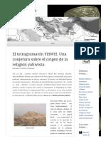 2013 03 17 El Tetragramaton Yhwh Una Conjetura Sobre El Origen de La Religion Yahwista (Lampuzo.wordpress)