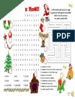 Jeux de Noel Activites Ludiques Feuille Dexercices Liste de Voc 61722