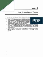 Appendix B Line Impedance Tables