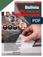 Bolivia dice No 21F, El No Nace en Washigton