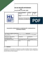 evaluacion de auditores