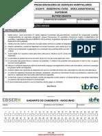 1- Prova Nutricionista Ebserh 2015