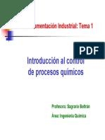 Control Automático Procesos quimicos