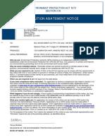 EPA Compliance Order to CVLX Jan 2019