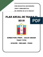 Plan Anual 2016 - Julio Cesar