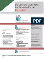 Consulta Ciudadana Mendotran - Construir  Puentes