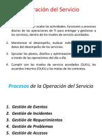 Operación Del Servicio
