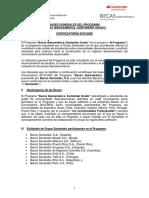 Convocatoria Santander Grado 2019-20