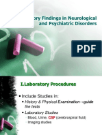 1. Laboratory Findings in Neurological and Psyviatric Disorders