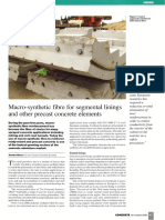 Macro Synthetic Fibre for Segmental Linings and Other Precast Concrete
