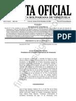 Gaceta Oficial Extraordinaria 6423