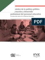 Diagnóstico de La Política Pública de Formación y Desarrollo Profesional