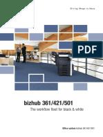 Brochure Bizhub 361 421 501