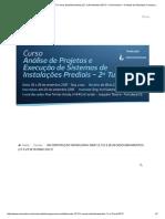 Uniconstruir - Curso Análise de Projetos e Execução de Sistemas de Instalações Prediais