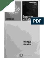 ECO, Umberto - A Estrutura Ausente