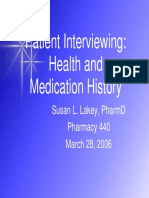 Patient Interviewing 440 2006