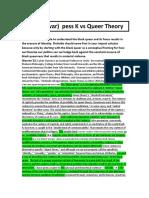 Quar Pess vs Queer Theory