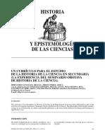 Historia y Epistemología de La Ciencia