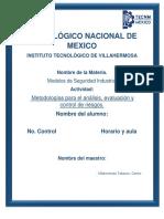 Metodologías para el análisis y la evaluación de riesgos