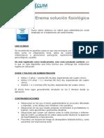 Enema Solucion Fisiologica