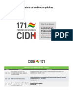 Calendario CIDH 171