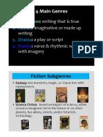 Genre - Subgenre Lesson PDF