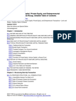 Structuring Venture Capital and Private Equity (2016) - Detailed Table of Contents