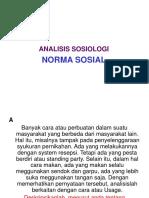 Power Point Analisis Nilai Dan Norma Sosilogi