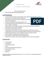 Job Description - Scaffolding Supervisor