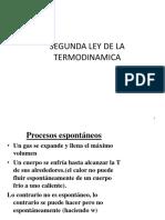 Clase Segunda Ley de La Termodinamica 2018-II