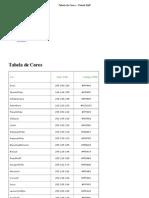 Tabela de Cores « Virtual Staff