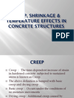 Creep Shrinkage