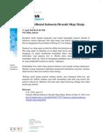 2.Generasi Milenial Indonesia Dirasuki Sikap Manja