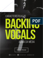 Caracteristicas de Backing Vocals acima da média