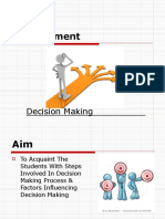 Decisionmaking Management