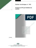 Schneider Electric - Cahier Technique 163 - Coupure en BT Par Limitation de Courant