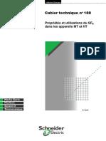 Schneider Electric - Cahier Technique 188 - Propriétés Et Utilisation Du SF6 Dans Les Appareils MT Et HT