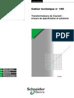 Schneider Electric - Cahier Technique 195 - Transformateurs de Courant, Erreur de Spécification Et Solutions