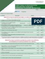 Cuestionario de valoración Espirometría OFICIAL CENAPRECE