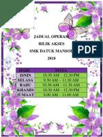 Jadual Operasi
