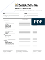 Employee Clearance Form Copy