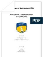 Continuous Assessment File